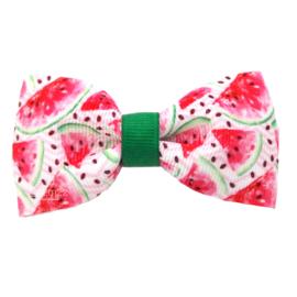 Haarstrik groot watermeloen roze