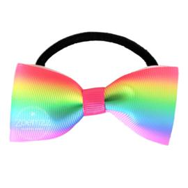 Elastiek met vlinderstrik rainbow