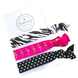 Ibiza elastiek/armband zebra