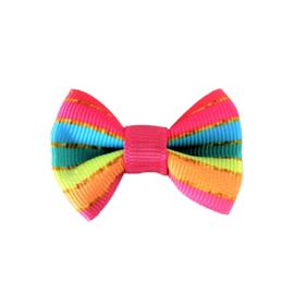 Haarstrik rainbow klein