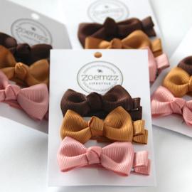 Set haarstrikken klein chocolate cream candy