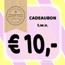 Cadeaubon € 10,-