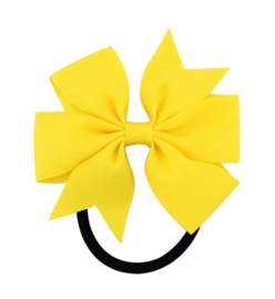 Elastiek met strik geel