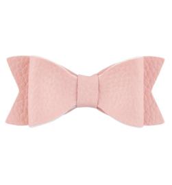 Haarstrik groot leder-look roze