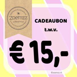 Cadeaubon € 15,-