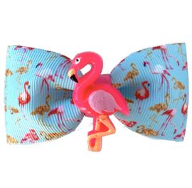 Luxe haarstrik flamingo