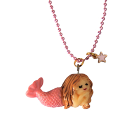 Kinderketting met zeemeermin roze