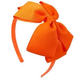Diadeem met strik oranje