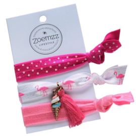 Ibiza elastiek/armband pink icecream