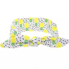 Strik - wrap haarband citroentjes