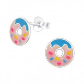 Kinderoorbellen donuts roze blauw