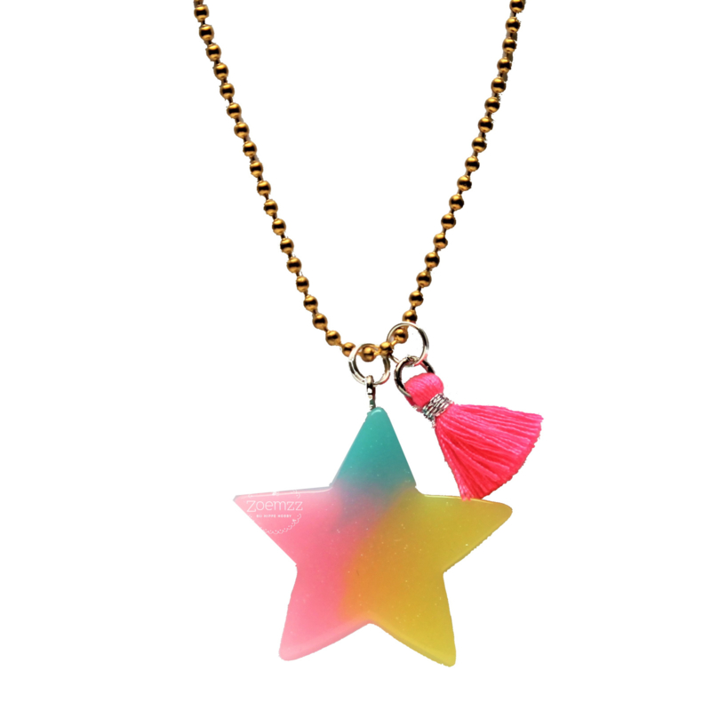 Kinderketting met rainbow ster