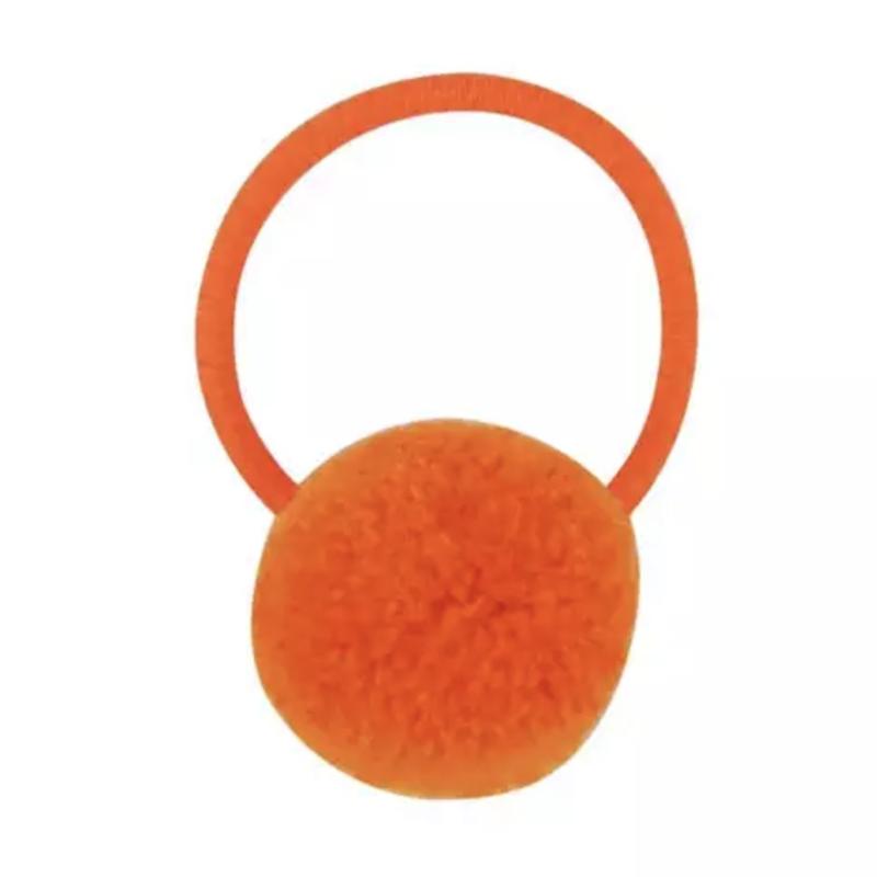Pompom elastiek oranje