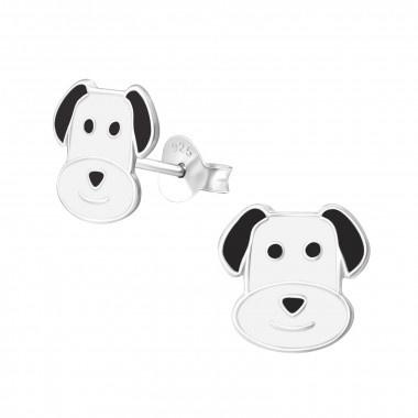 Kinderoorbellen zilver hondje