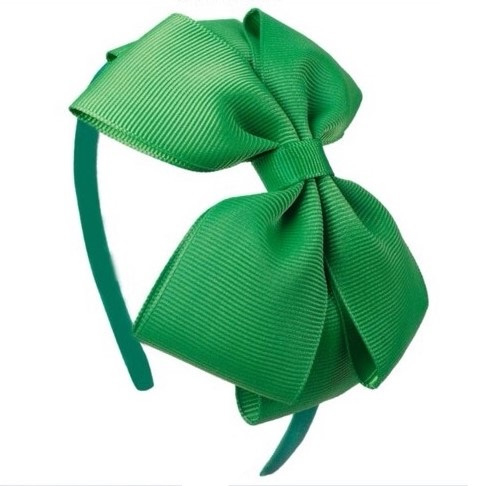 Diadeem met strik groen