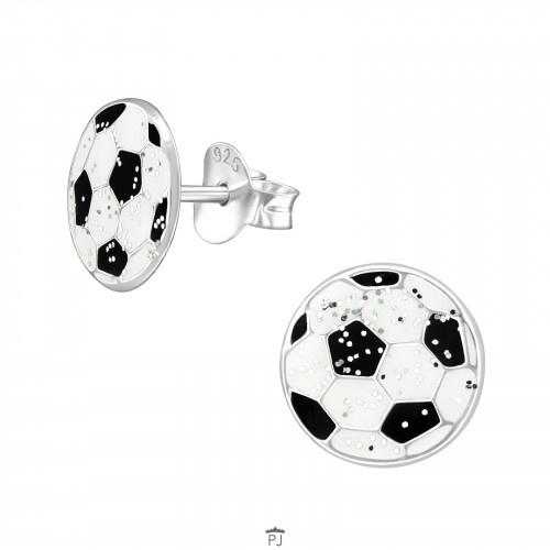 Kinderoorbellen zilver voetbal