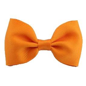 Haarlokspeld met strik oranje