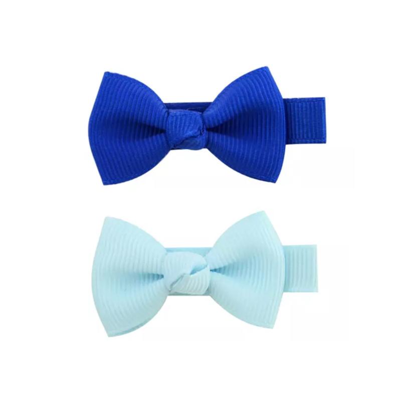 Haarstrikjes set klein blauw