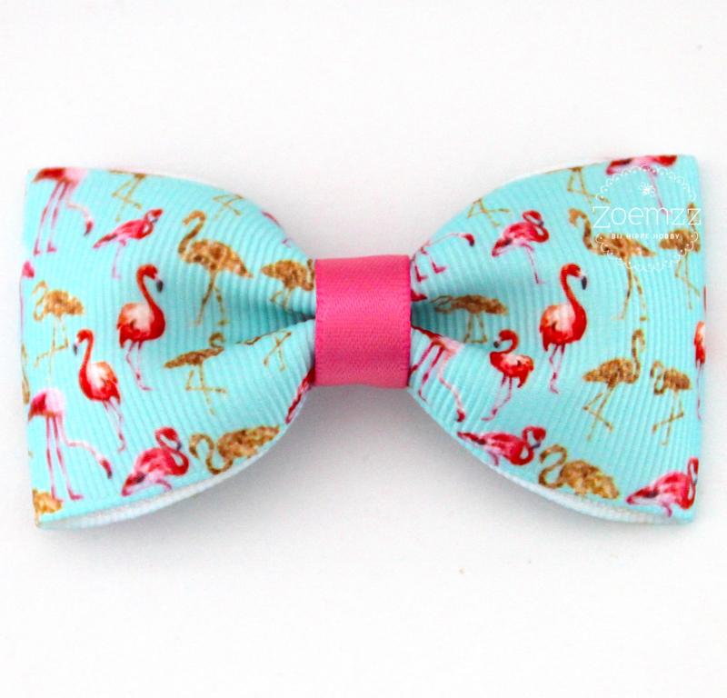 Haarstrik flamingo blue