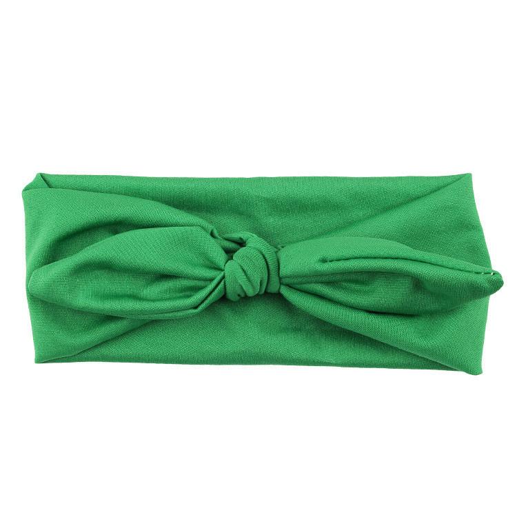 Knoop - wrap haarband effen groen