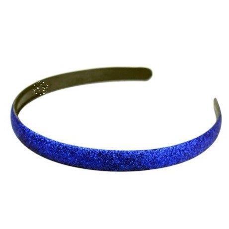 Diadeem met glitters koningsblauw
