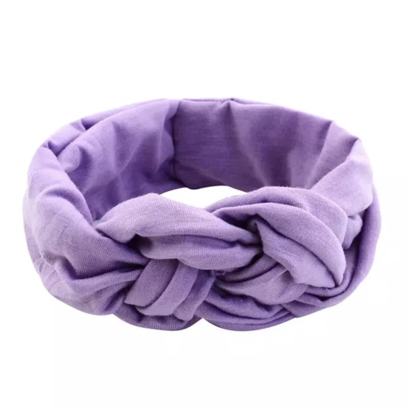 Vlechthaarband effen paars