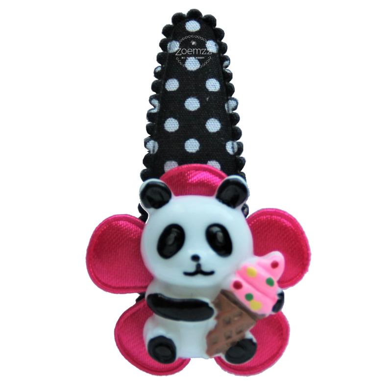 Haarspeldje panda met ijsje
