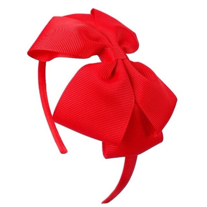 Diadeem met strik rood