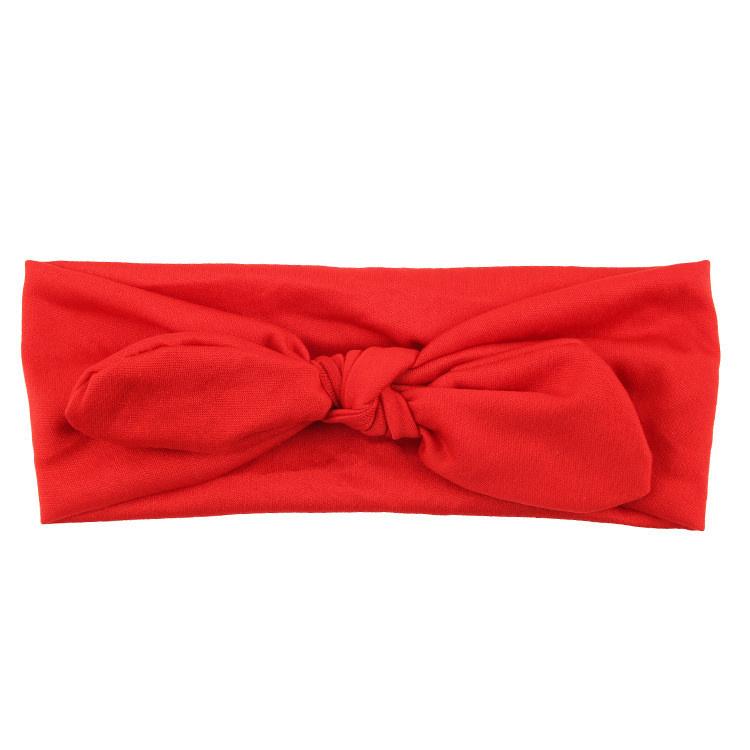 Knoop - wrap haarband effen rood