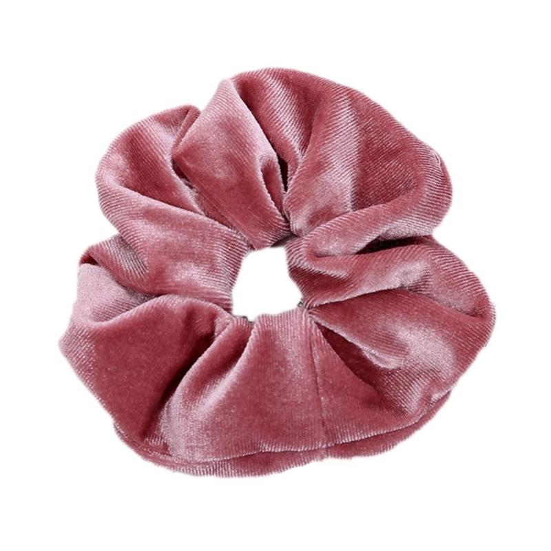 Scrunchie velvet oudroze