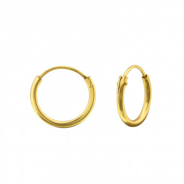 Zilveren creolen ringetjes gold plated