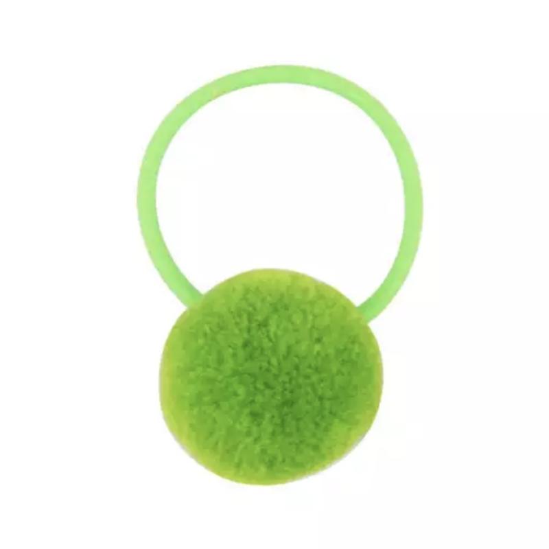 Pompom elastiek groen