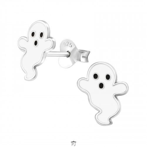 Zilveren kinderoorbellen spotje
