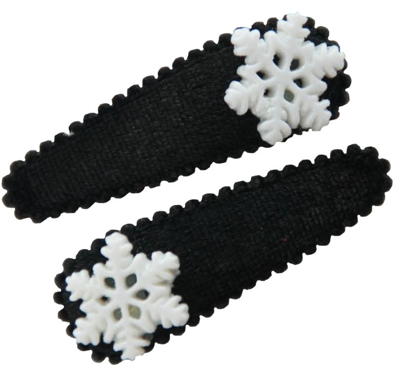 Haarspeldjes met ijskristal zwart