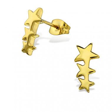 Kinderoorbellen chirurgisch staal sterren gold plated