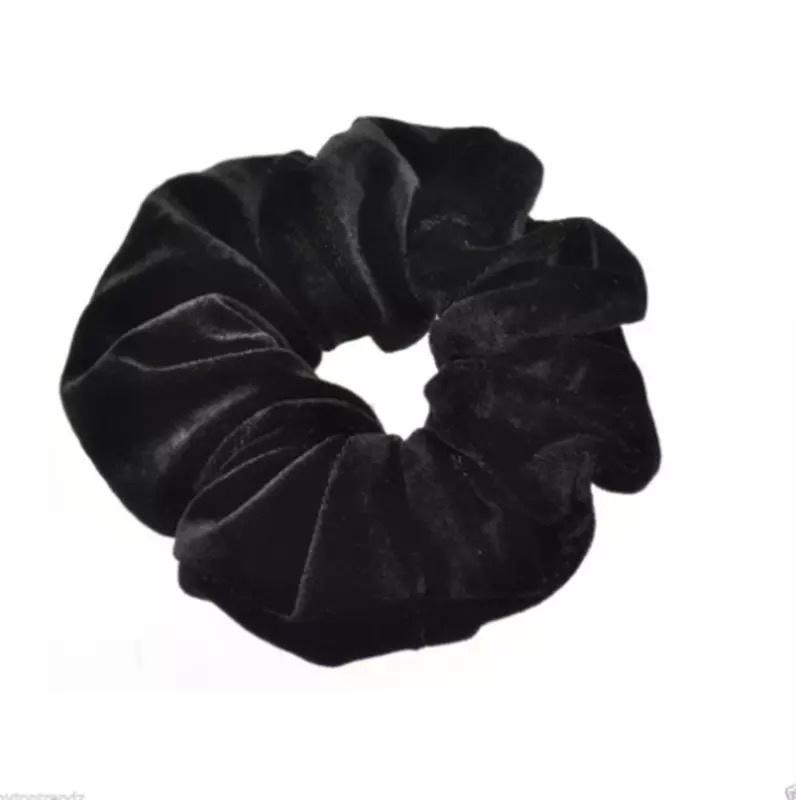 Scrunchie velvet zwart