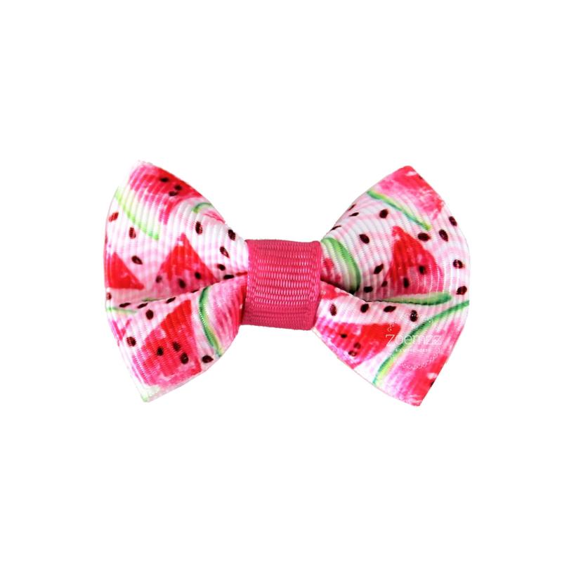Haarstrik watermeloen roze klein