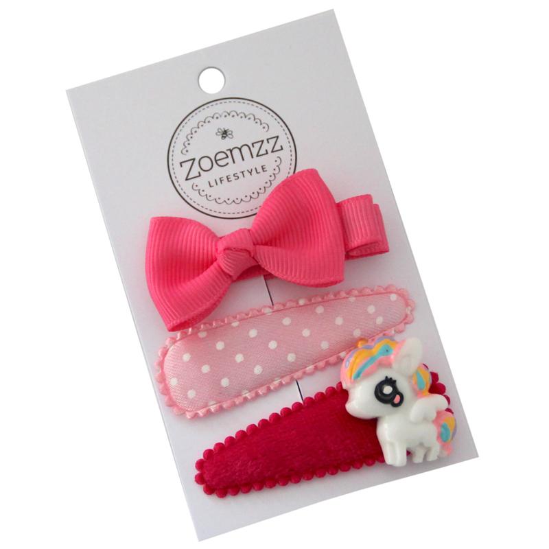 Set Haarspeldjes unicorn roze