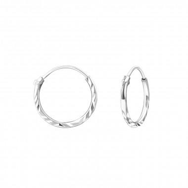 Zilveren creolen ringetjes gedraaid