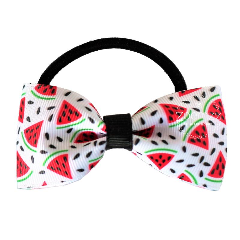 Elastiek met vlinderstrik watermeloen