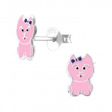 Oorbellen hondje roze