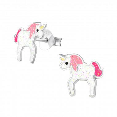 Oorbellen unicorn glitters