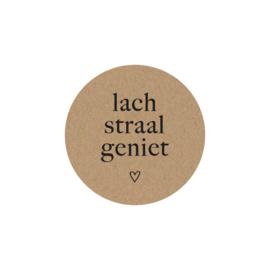 Magneet / Lach straal geniet / 8 cm