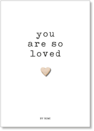 Baby / Kaart / You are so loved / Hartje