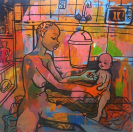 Peter Klashorst - Moeder en kind
