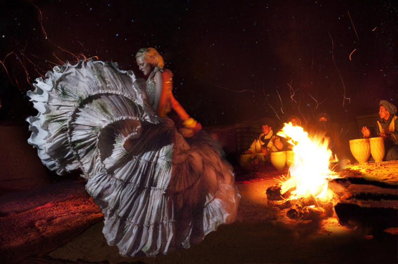 Hans Withoos - Dancing in Sahara