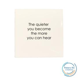 Tegel   QUIETER HEAR