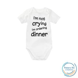 Romper korte mouw | NOT CRYING ORDERING DINNER