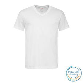 Heren T-shirt V-hals korte mouwen