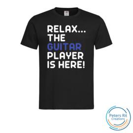 Heren T-shirt R-hals korte mouwen | GUITAR PLAYER